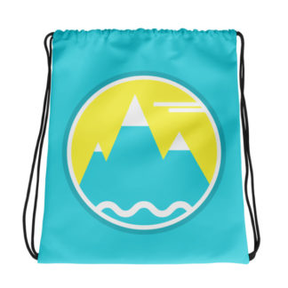 Loreslberg Mountain Drawstring Bag