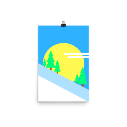 Trees on the Mountain Poster