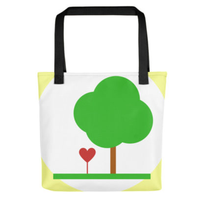 Heart & Tree Tote Bag