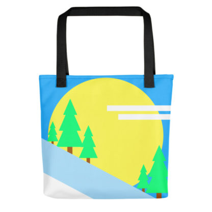 Trees on the Mountain Tote Bag