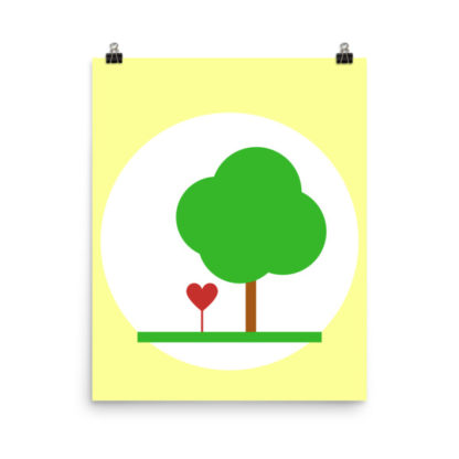 Heart & Tree Poster