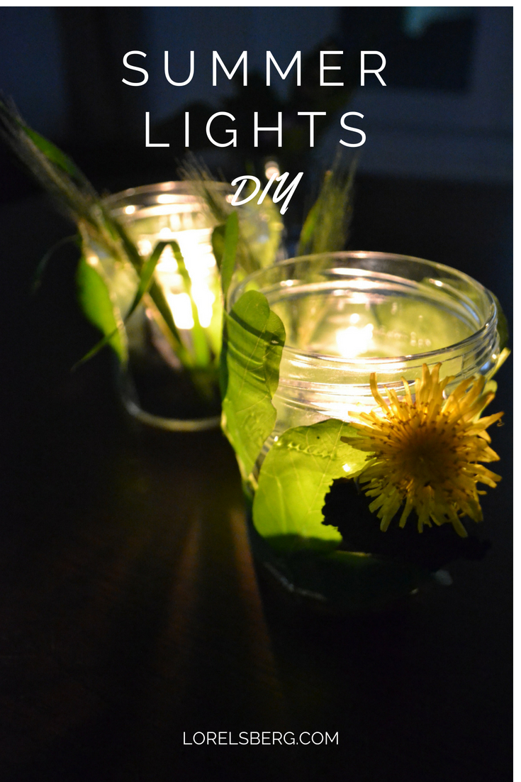 DIY - Nature Tea Lights made with local leaves and flowers. #diy #craft #nature