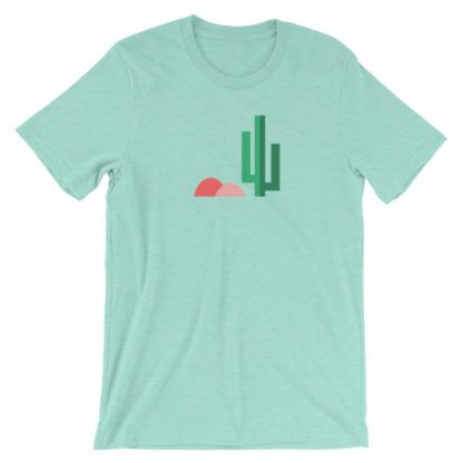 cactus desert unisex t-shirt aqua
