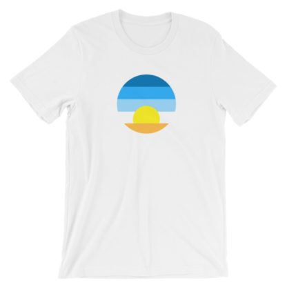 sunrise unisex t-shirt white