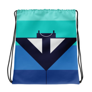 Manta Ray Drawstring Bag