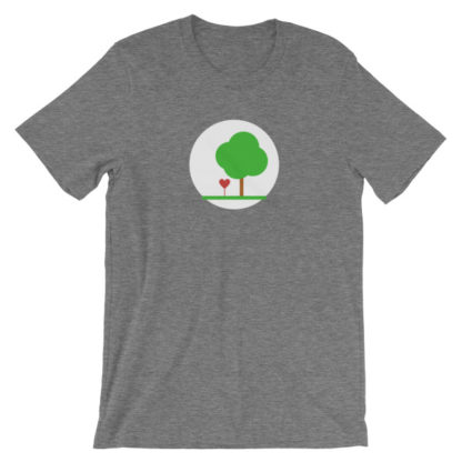 heart and tree unisex t-shirt gray heather