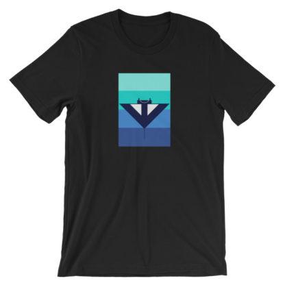 blue manta ray unisex t-shirt black