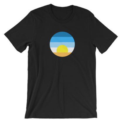 sunrise unisex t-shirt black