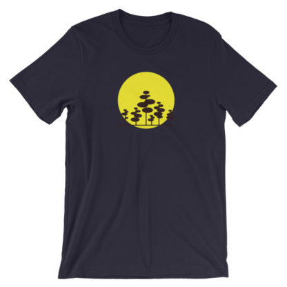 trees in the sun unisex t-shirt black