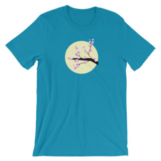 cherry blossom unisex t-shirt blue