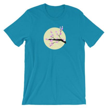 cherry blossom unisex t-shirt blue
