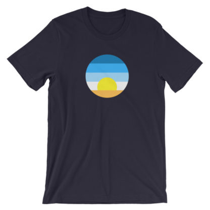 sunrise unisex t-shirt dark blue