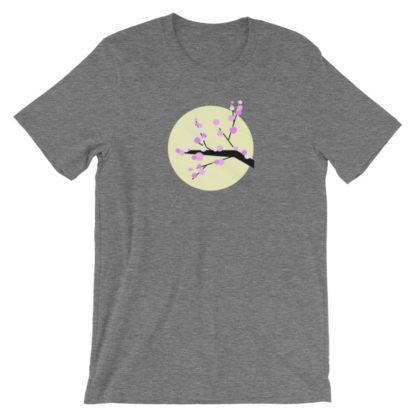 cherry blossom unisex t-shirt gray heather