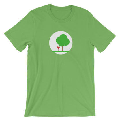 heart and tree unisex t-shirt green