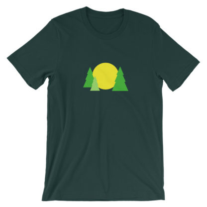 trees forest sun unisex t-shirt forest green