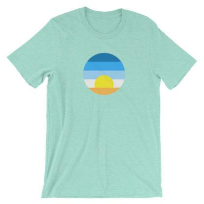 sunrise unisex t-shirt turquoise