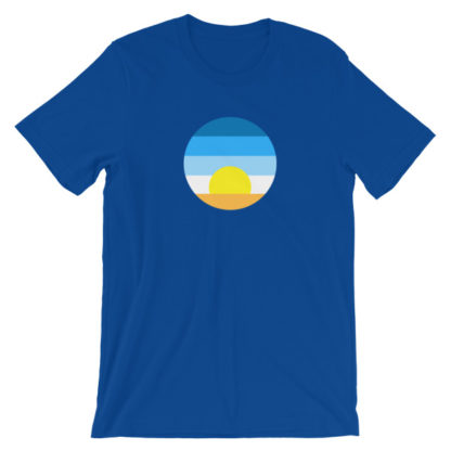 sunrise unisex t-shirt light blue