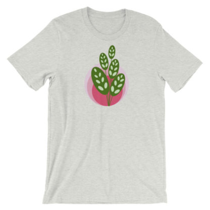 green and pink plant unisex t-shirt gray
