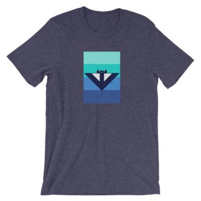 blue manta ray unisex t-shirt blue heather