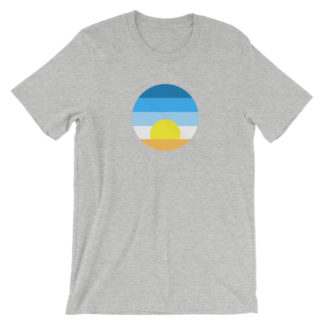 sunrise unisex t-shirt gray