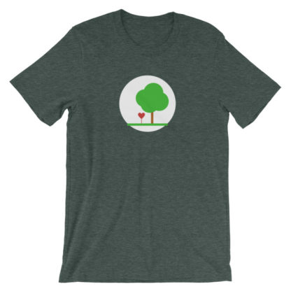 heart and tree unisex t-shirt green heather
