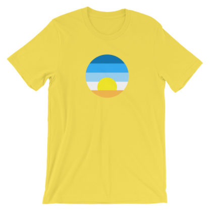 sunrise unisex t-shirt yellow