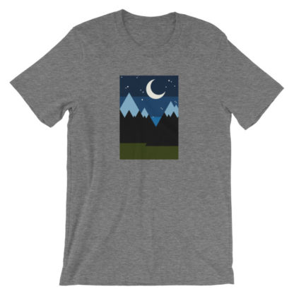 starry night in the mountains unisex t-shirt gray heather