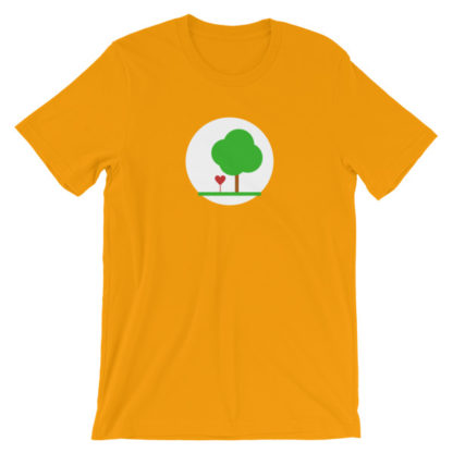 heart and tree unisex t-shirt orange