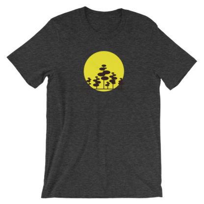 trees in the sun unisex t-shirt dark gray heather