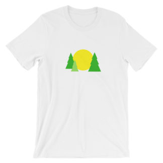 trees forest sun unisex t-shirt white
