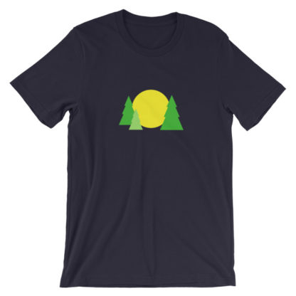 trees forest sun unisex t-shirt black