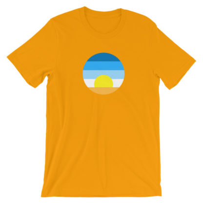 sunrise unisex t-shirt orange