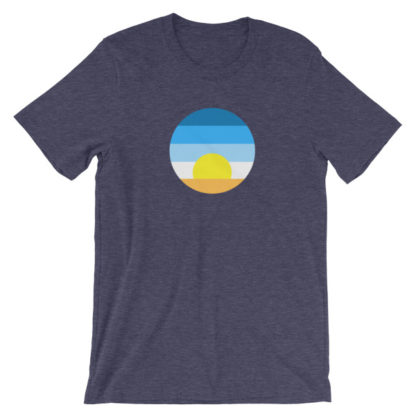 sunrise unisex t-shirt blue heather