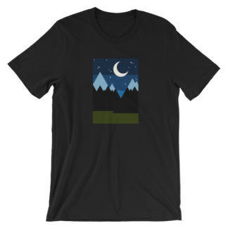 starry night in the mountains unisex t-shirt black
