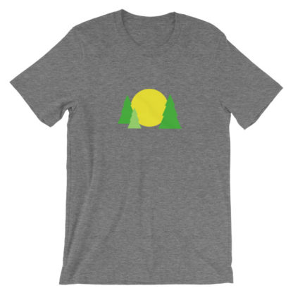trees forest sun unisex t-shirt gray heather