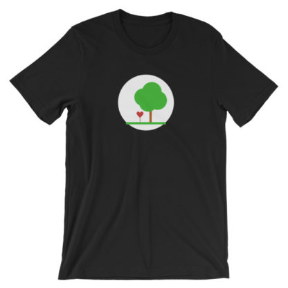 heart and tree unisex t-shirt black