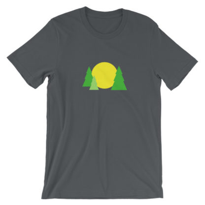 trees forest sun unisex t-shirt gray