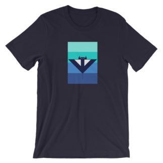 blue manta ray unisex t-shirt dark blue