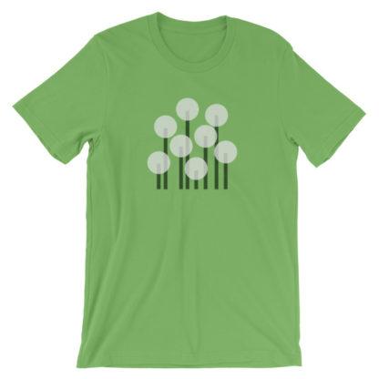 dandelions unisex t-shirt green