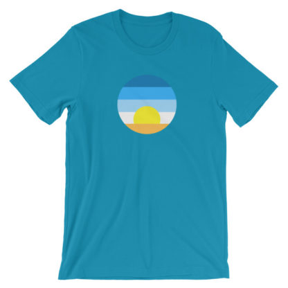 sunrise unisex t-shirt teal
