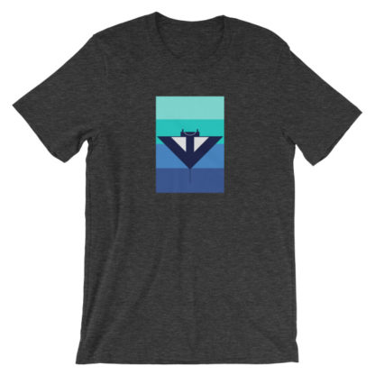 blue manta ray unisex t-shirt gray heather