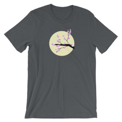 cherry blossom unisex t-shirt gray