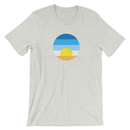 sunrise unisex t-shirt light gray heather