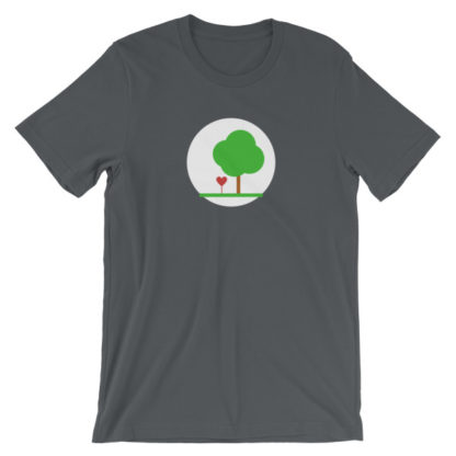 heart and tree unisex t-shirt gray