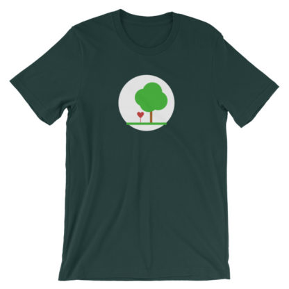 heart and tree unisex t-shirt forest green