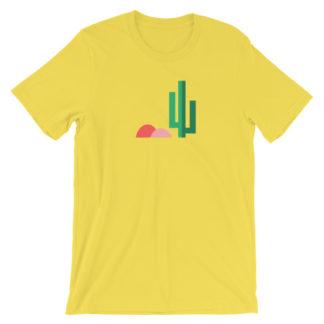 cactus desert unisex t-shirt yellow