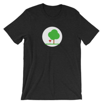 heart and tree unisex t-shirt black heather