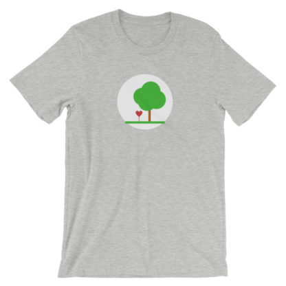 heart and tree unisex t-shirt light gray
