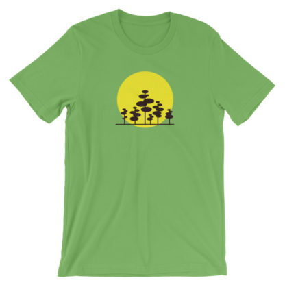 trees in the sun unisex t-shirt dark green