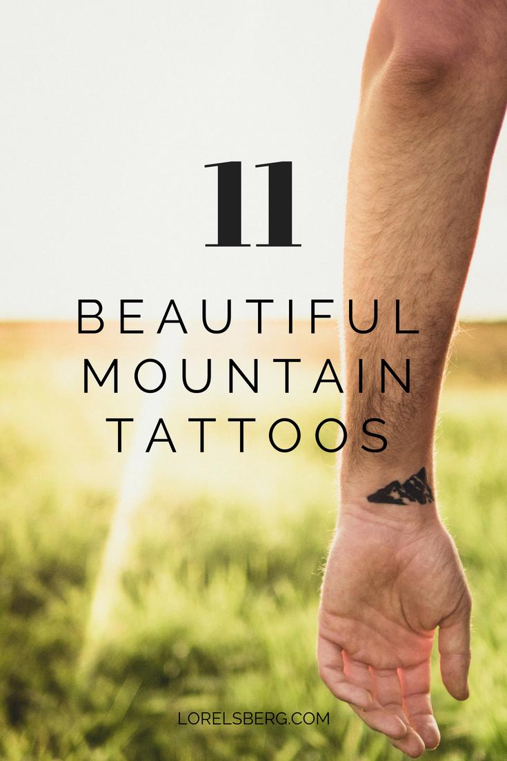 11 beautiful mountain tattoos - Lorelsberg #mountains #tattoo #mountaintattoos